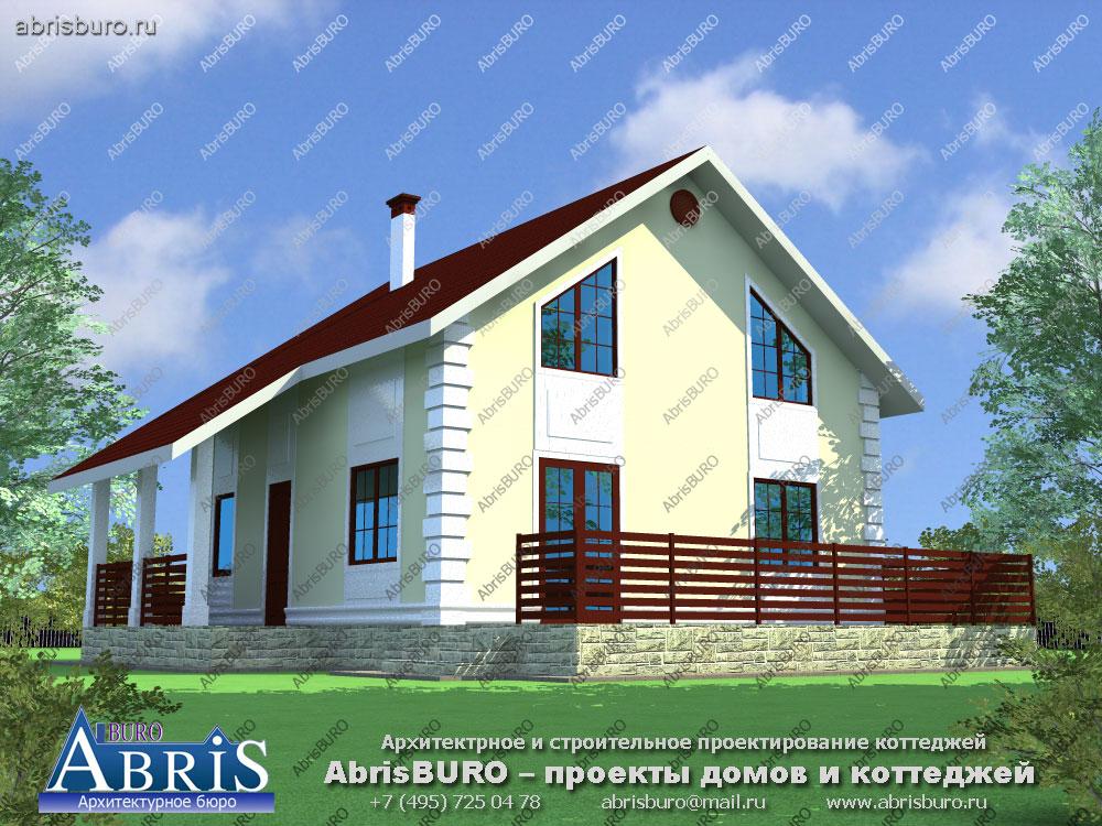 Проект дома с деревянным перекрытием K1005-128