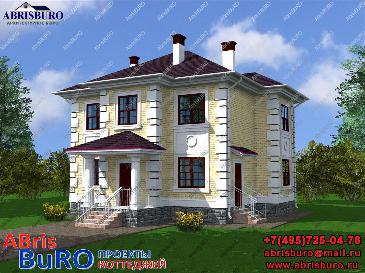 Проект дома с деревянным перекрытием K1112-136