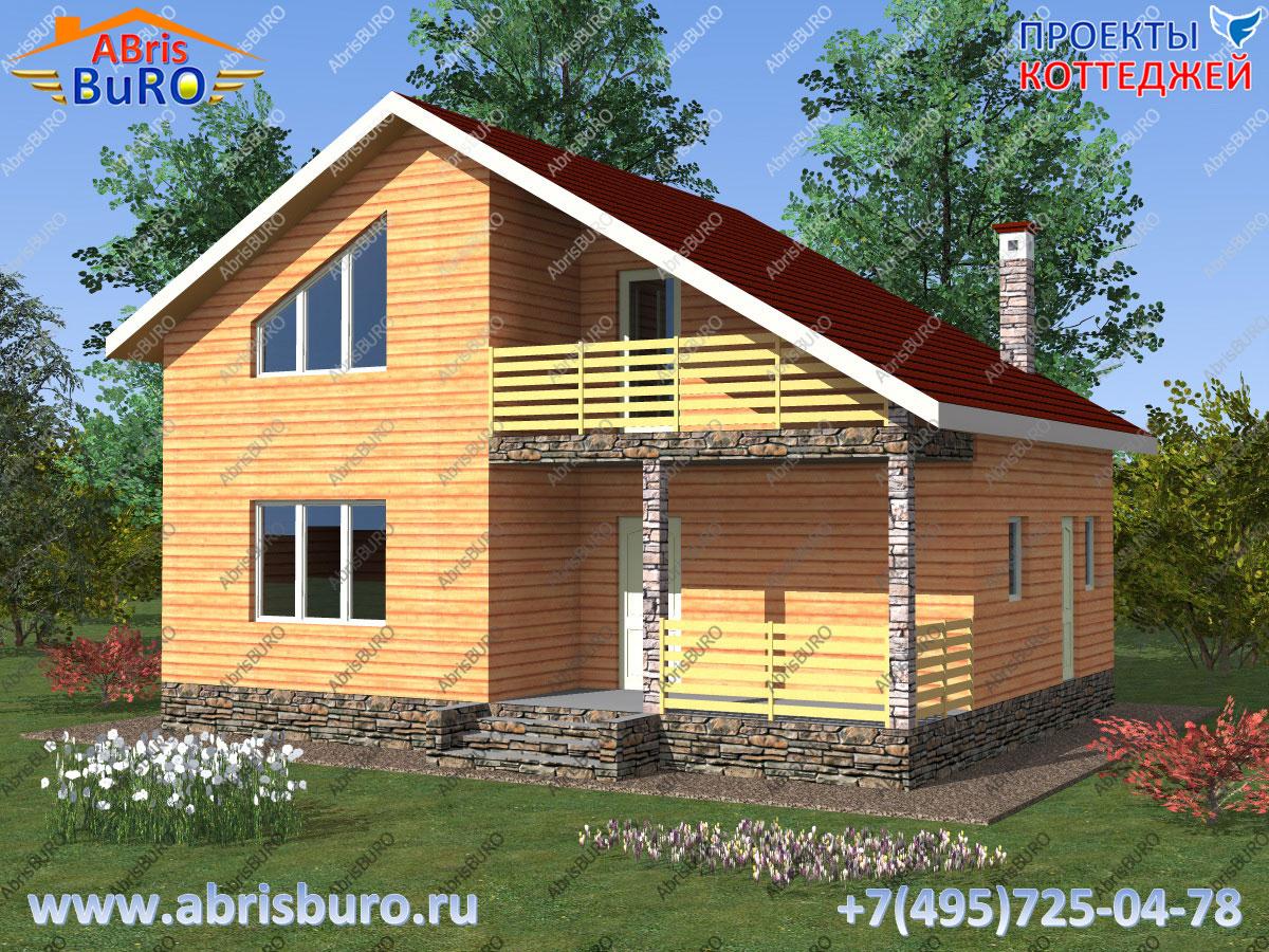 Проект дома с деревянным перекрытием K1117-103