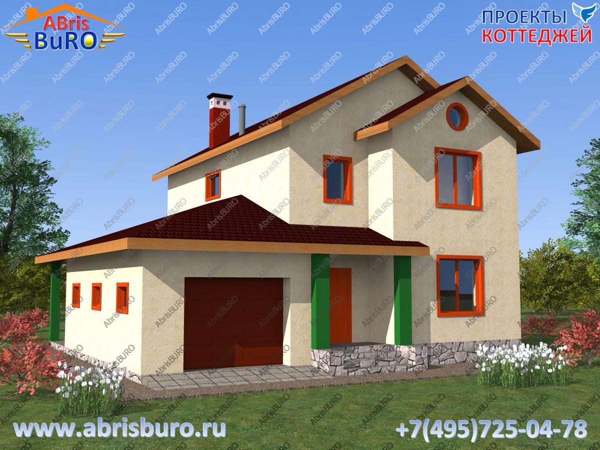 Проект дома со сборными ж/б плитами перекрытий K1122-147