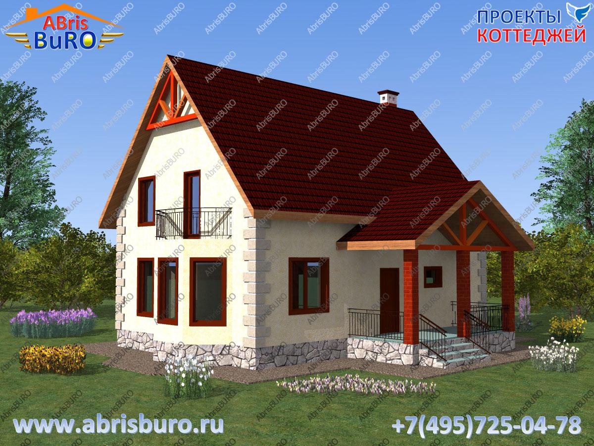 Проект дома с крыльцом K1133-130