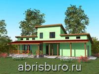 Проект каркасного дома K1626-153