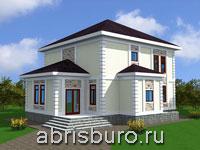 Проект двухэтажного дома с летней кухней K1627-187