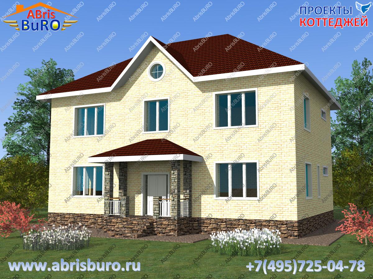 Проект дома с крыльцом K1629-199