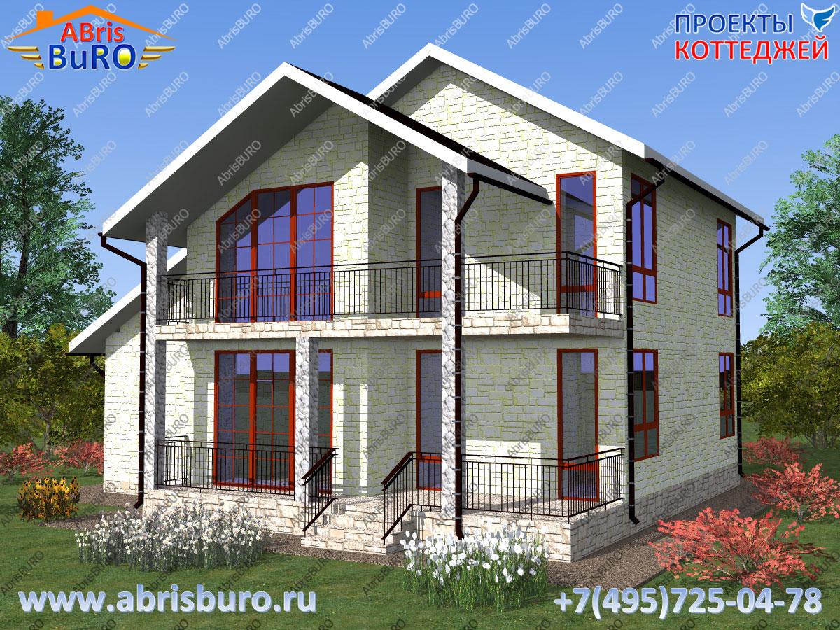 Проект современного дома K1631-159