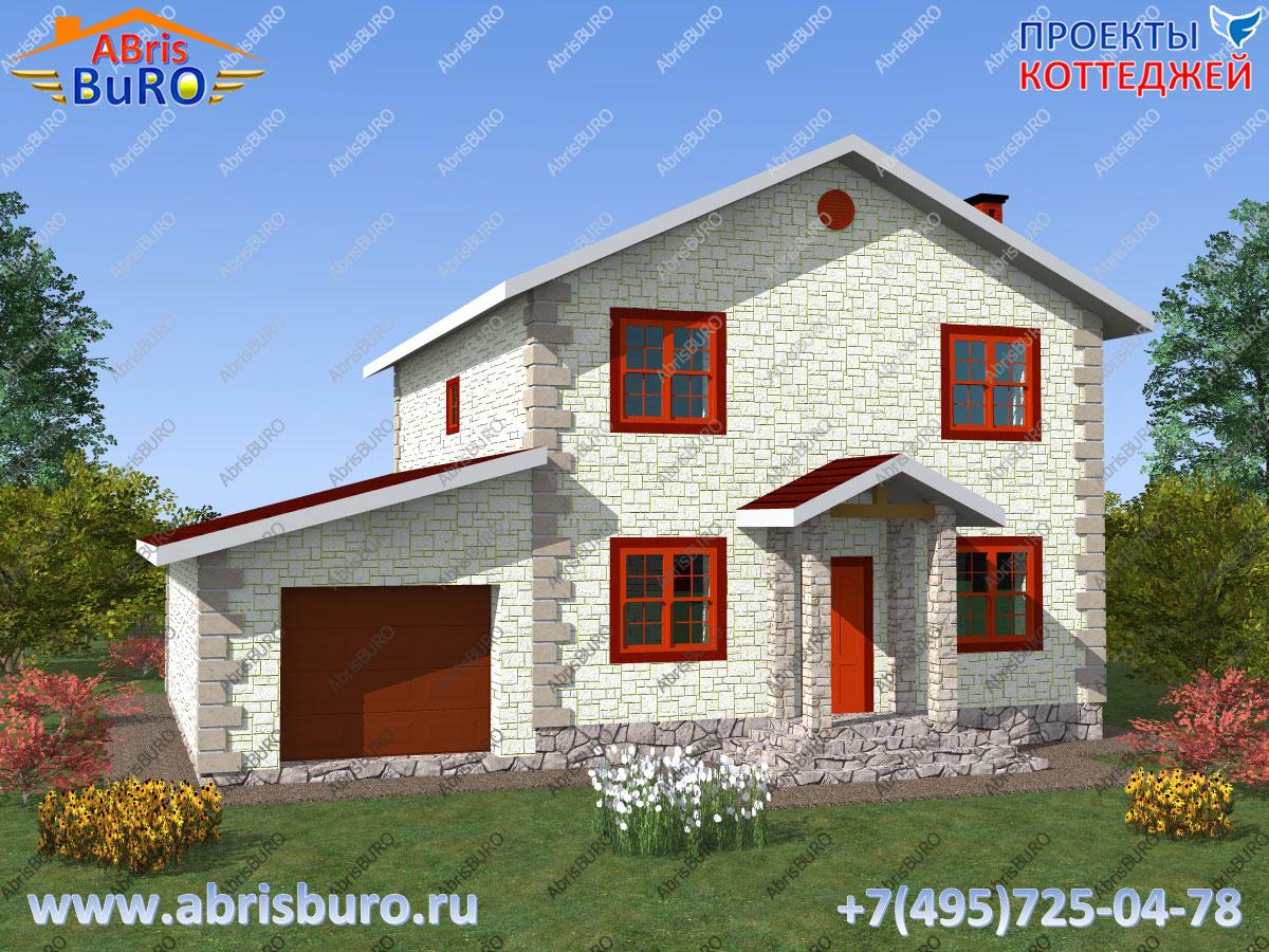Проект дома с крыльцом K1632-179