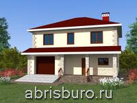 Проект двухэтажного дома с гаражом K1633-169