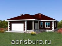 Проект одноэтажного дома с террасой K1635-178