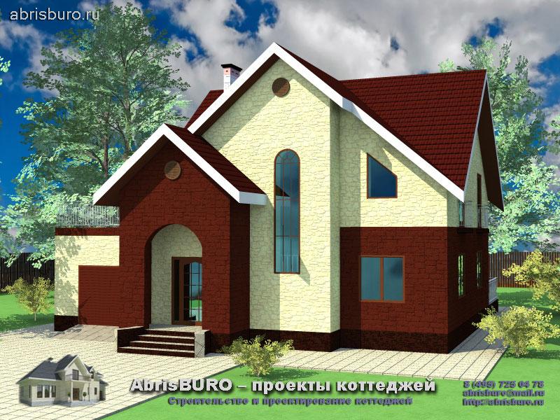 Проект мансардного дома с гаражом K157-183