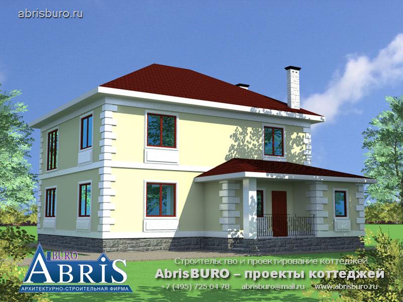 Проект дома с монолитными ж/б плитами перекрытий K16-180