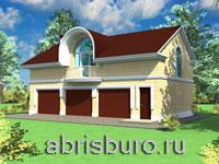 Проект гостевого дома-гаража К53-156