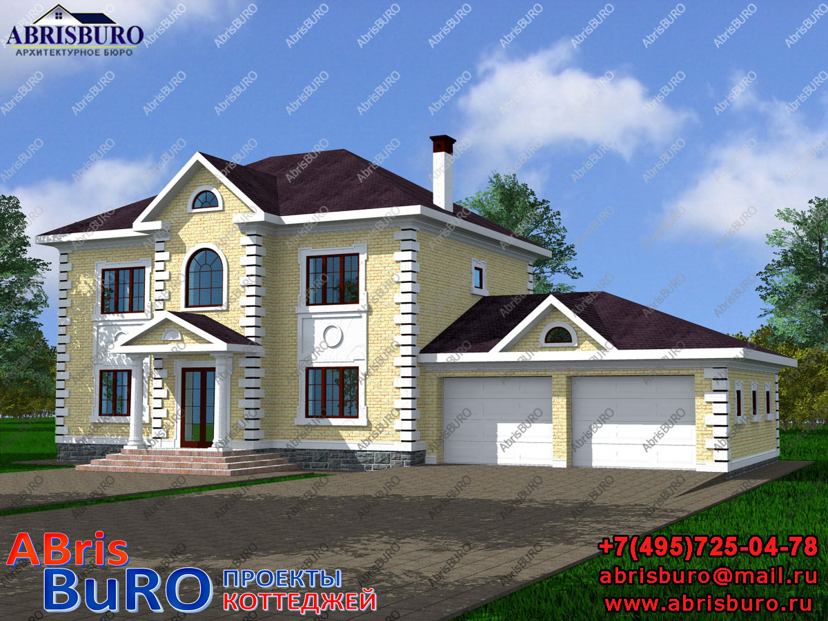 Проект дома с монолитными ж/б плитами перекрытий K2063-207