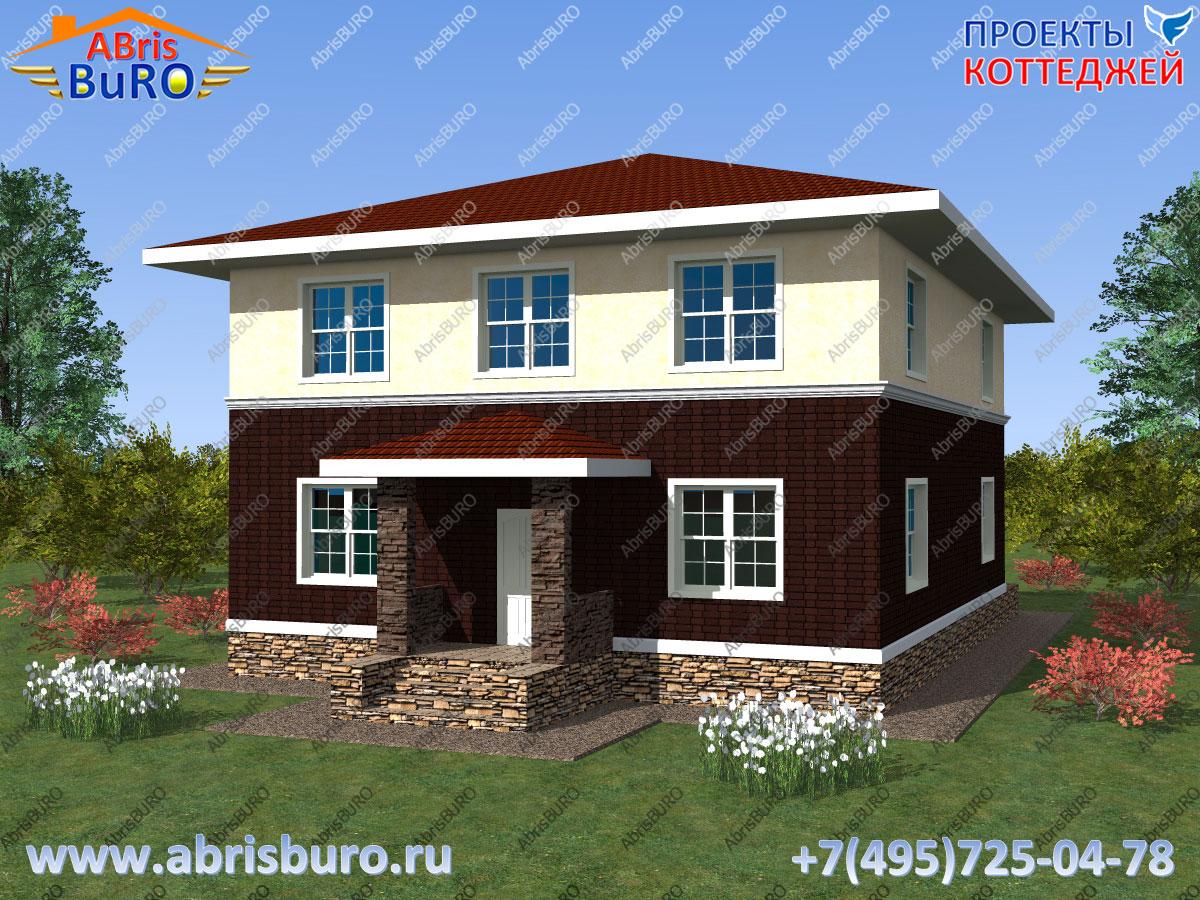 Проект современного дома K2080-222