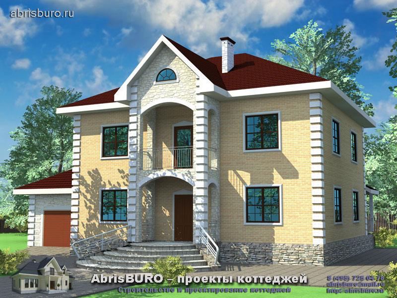 Проект дома с фасадами из облицовочного кирпича K204-240
