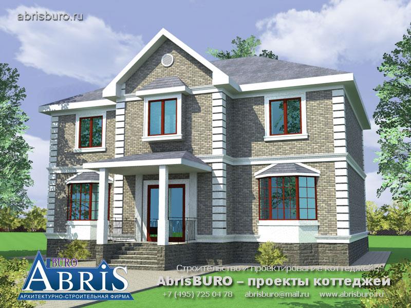 Проект дома с фасадами из облицовочного кирпича K63-230
