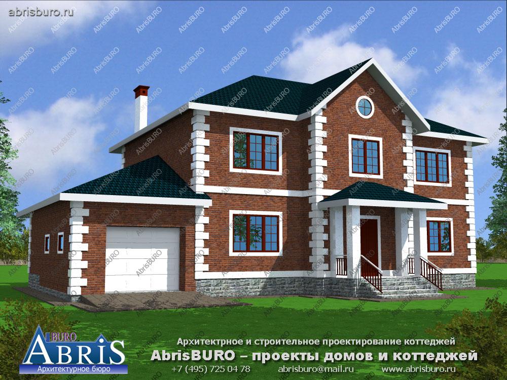 Проект дома с фасадами из облицовочного кирпича K2536-259