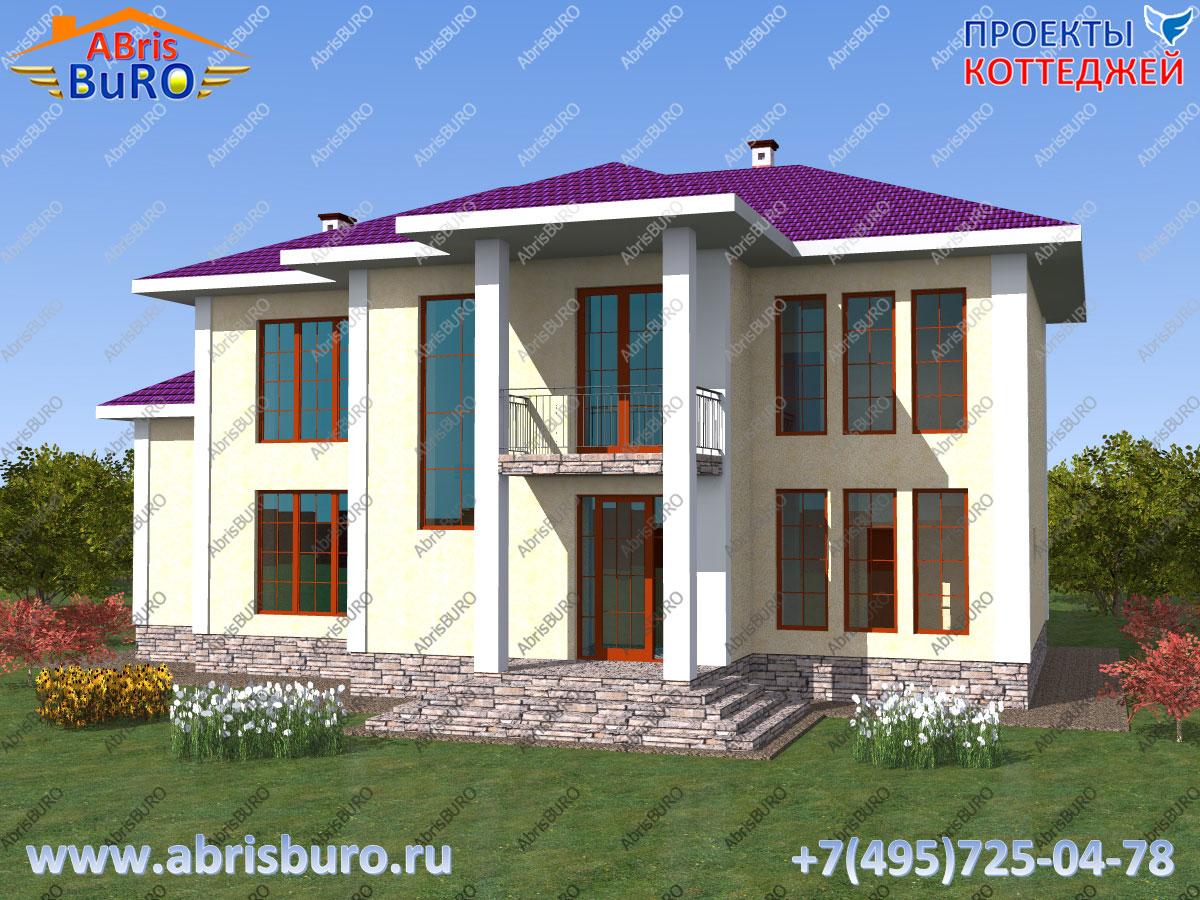 Проект современного дома K2558-264