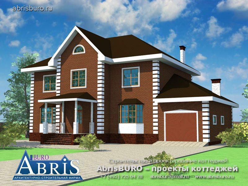 Проект дома с фасадами из облицовочного кирпича K27-255
