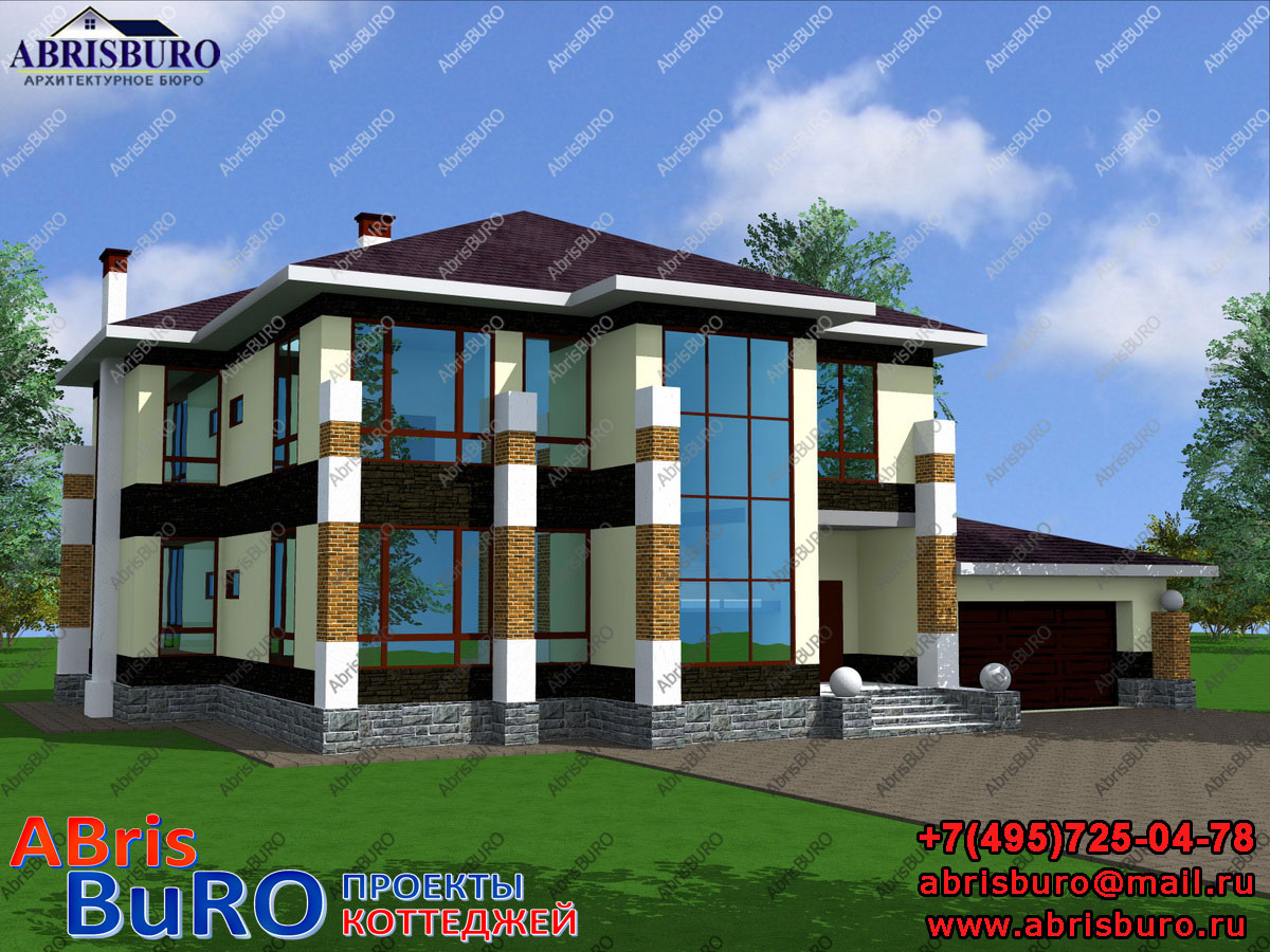 Проект современного дома K3051-441