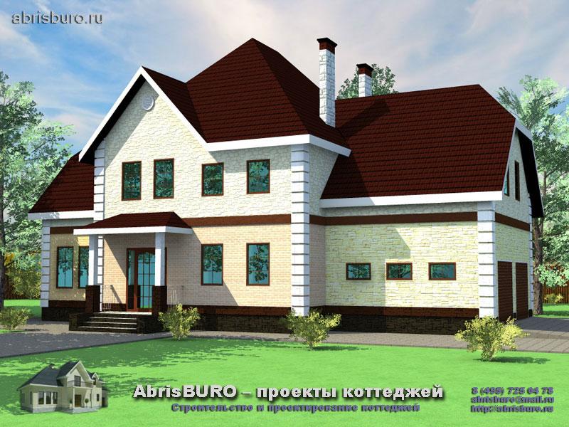 Проект двухэтажного дома с шестью спальнями K311-310