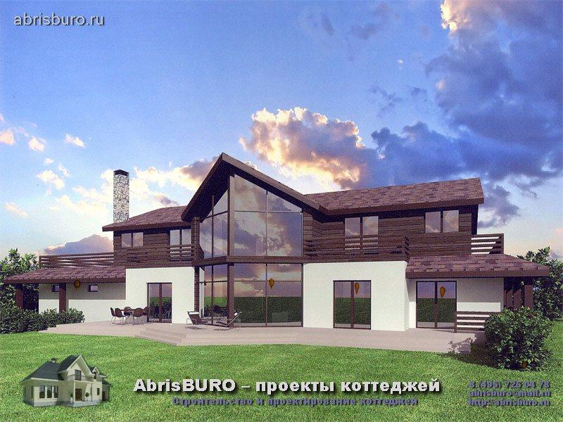 Проект современного дома K80-490