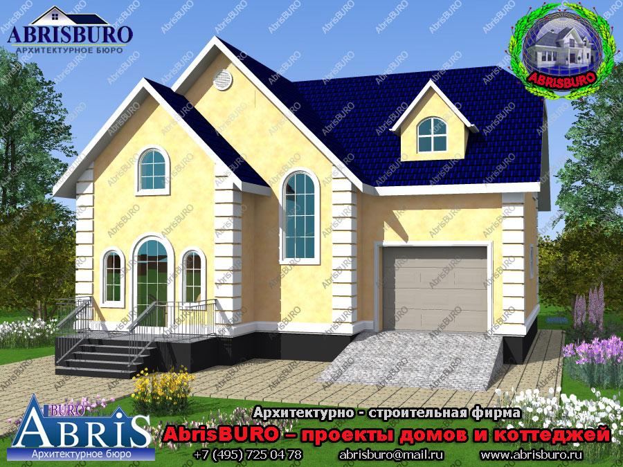 Проект мансардного дома с гаражом K1607-187