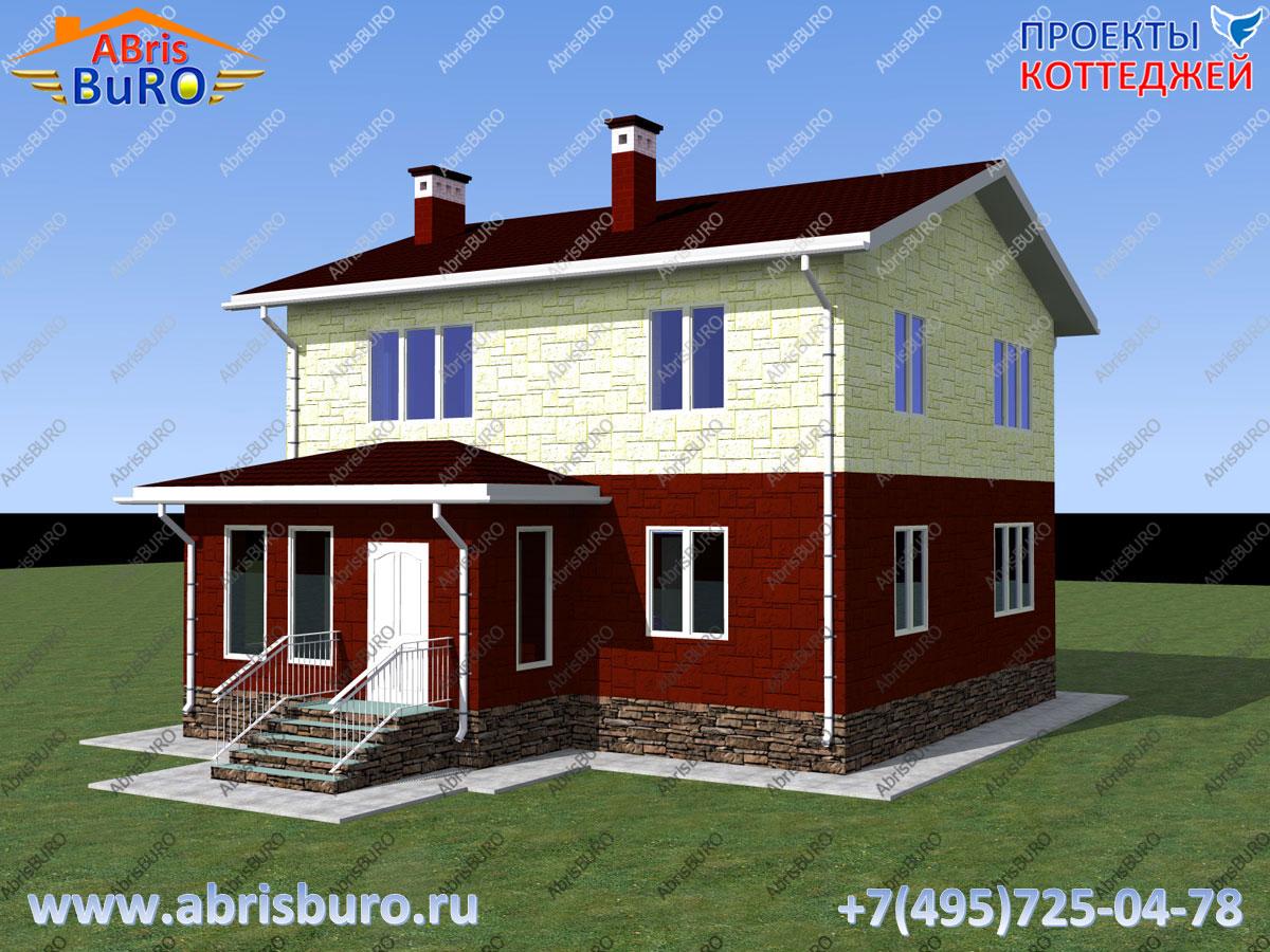 Проект двухэтажного дома K1147-133