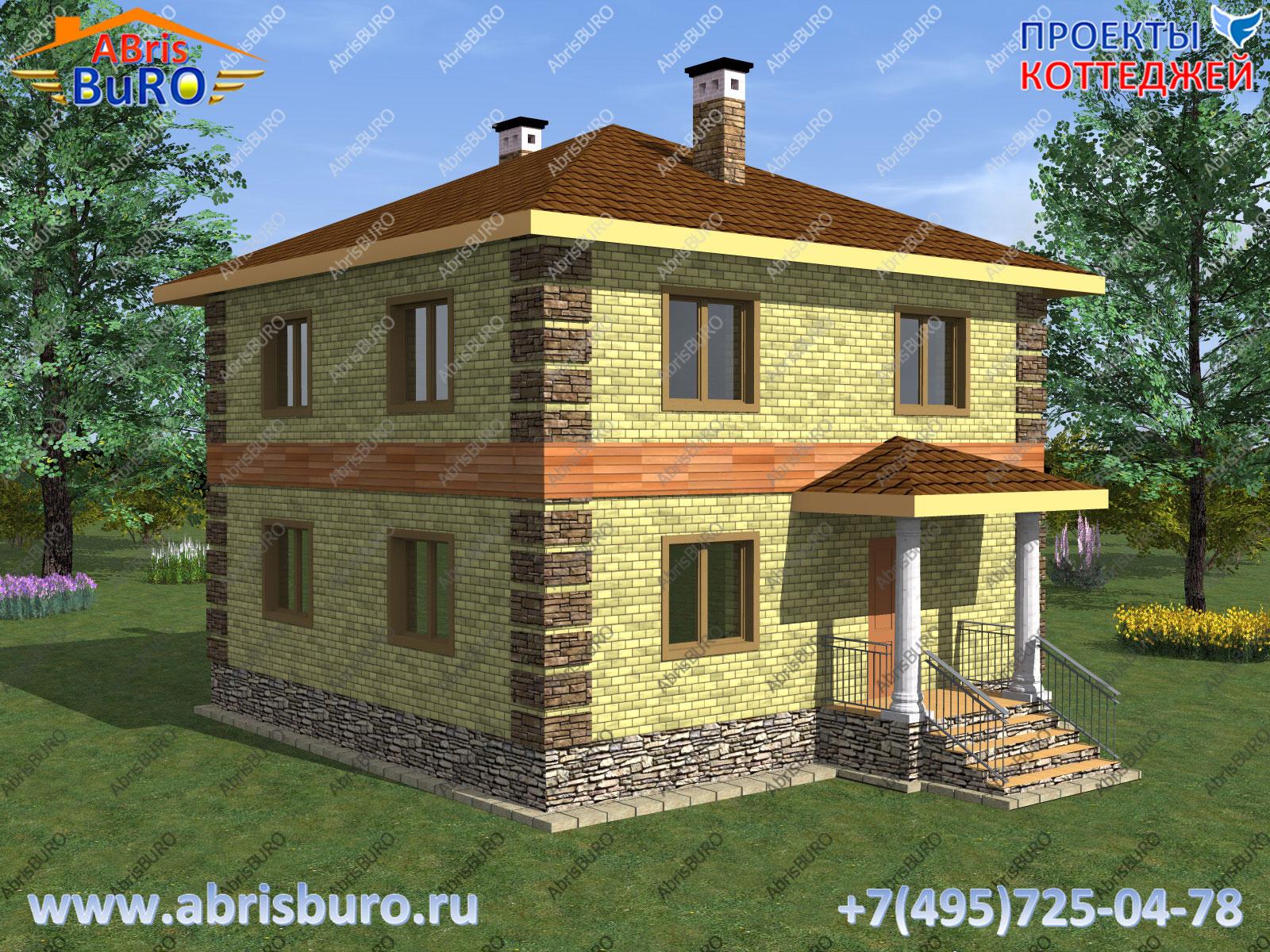 Проект двухэтажного дома K1154-109