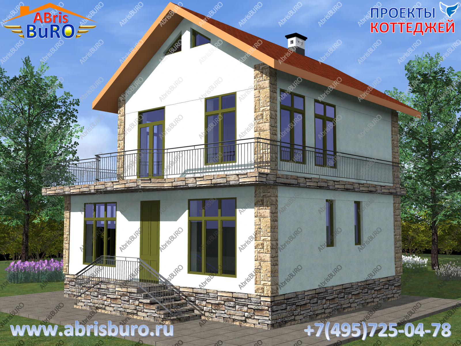 Проект двухэтажного дома K1158-138