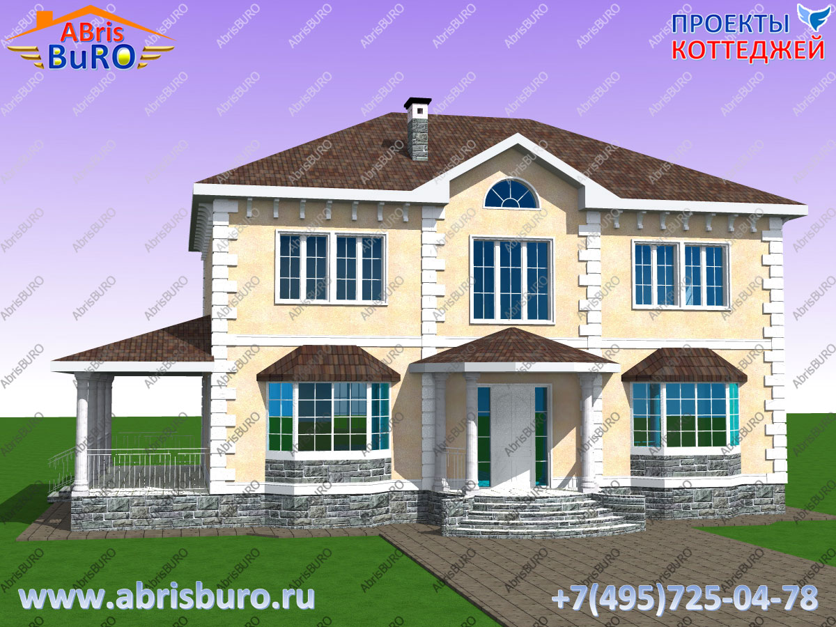 Проект 2-х этажного дома с террасой K2087-217