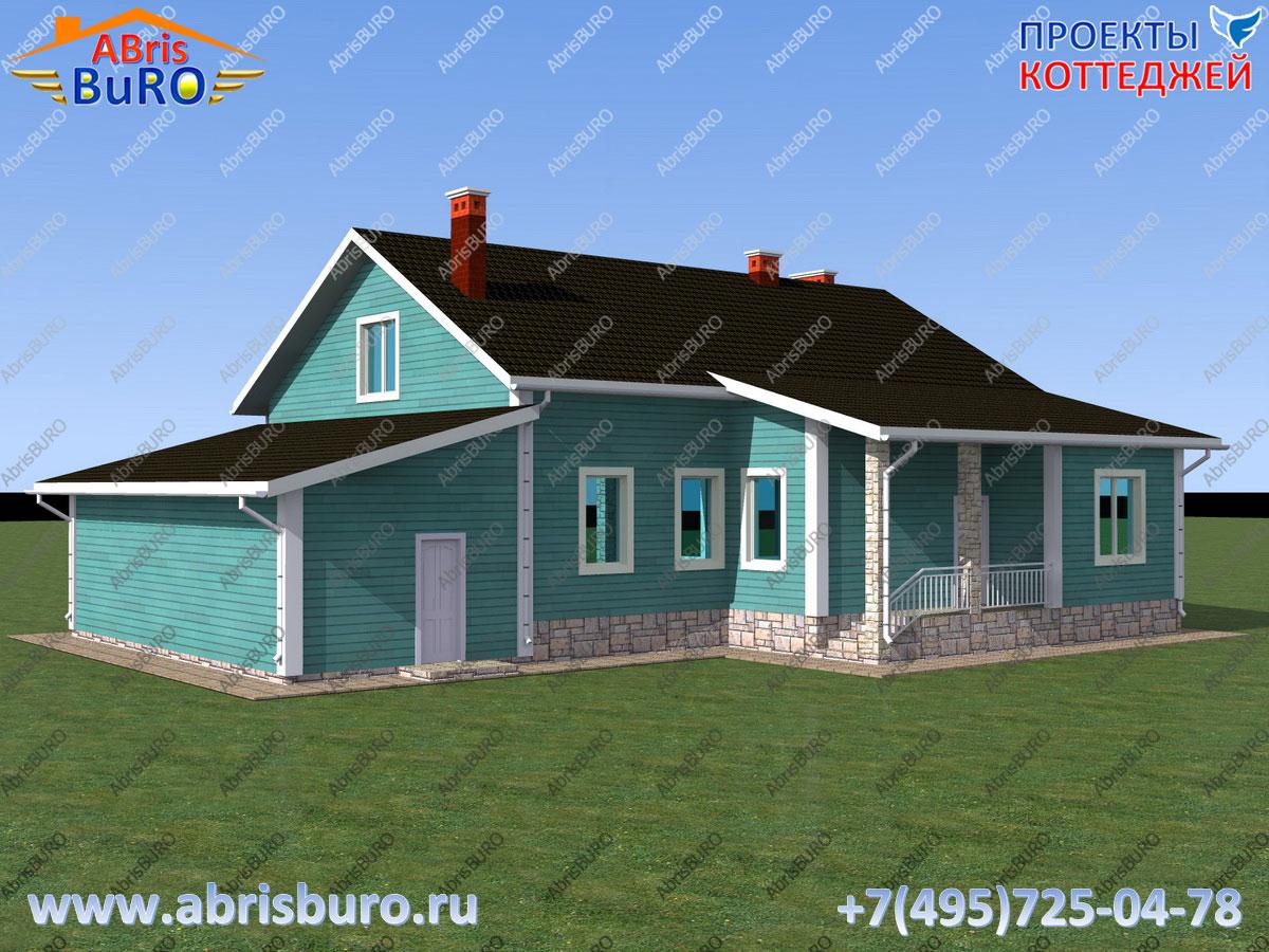 Проект 2-х этажного коттеджа в современном стиле из теплоблоков K2089-227