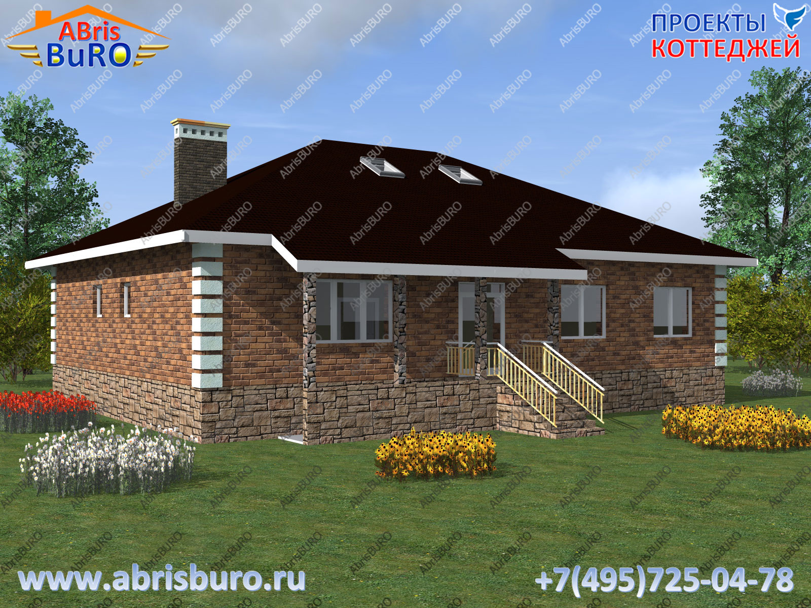 Фасад дома 3d K2091-231