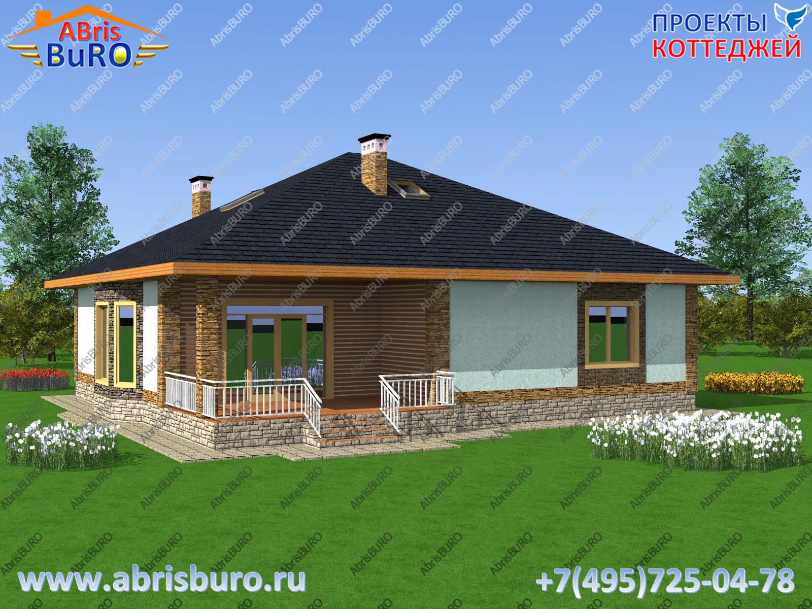 Фасад дома 3d K2092-218