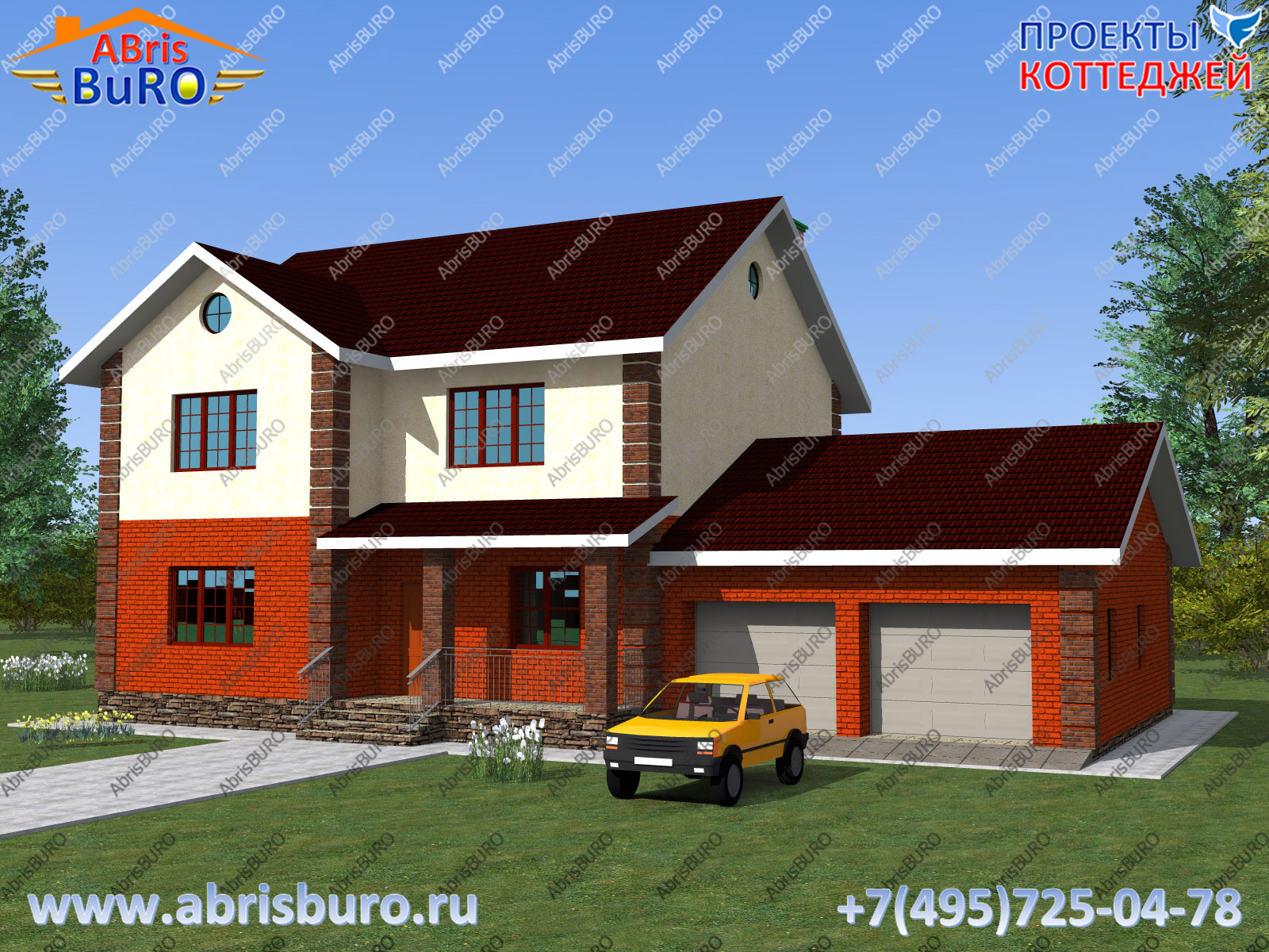 Главный фасад дома K2100-222