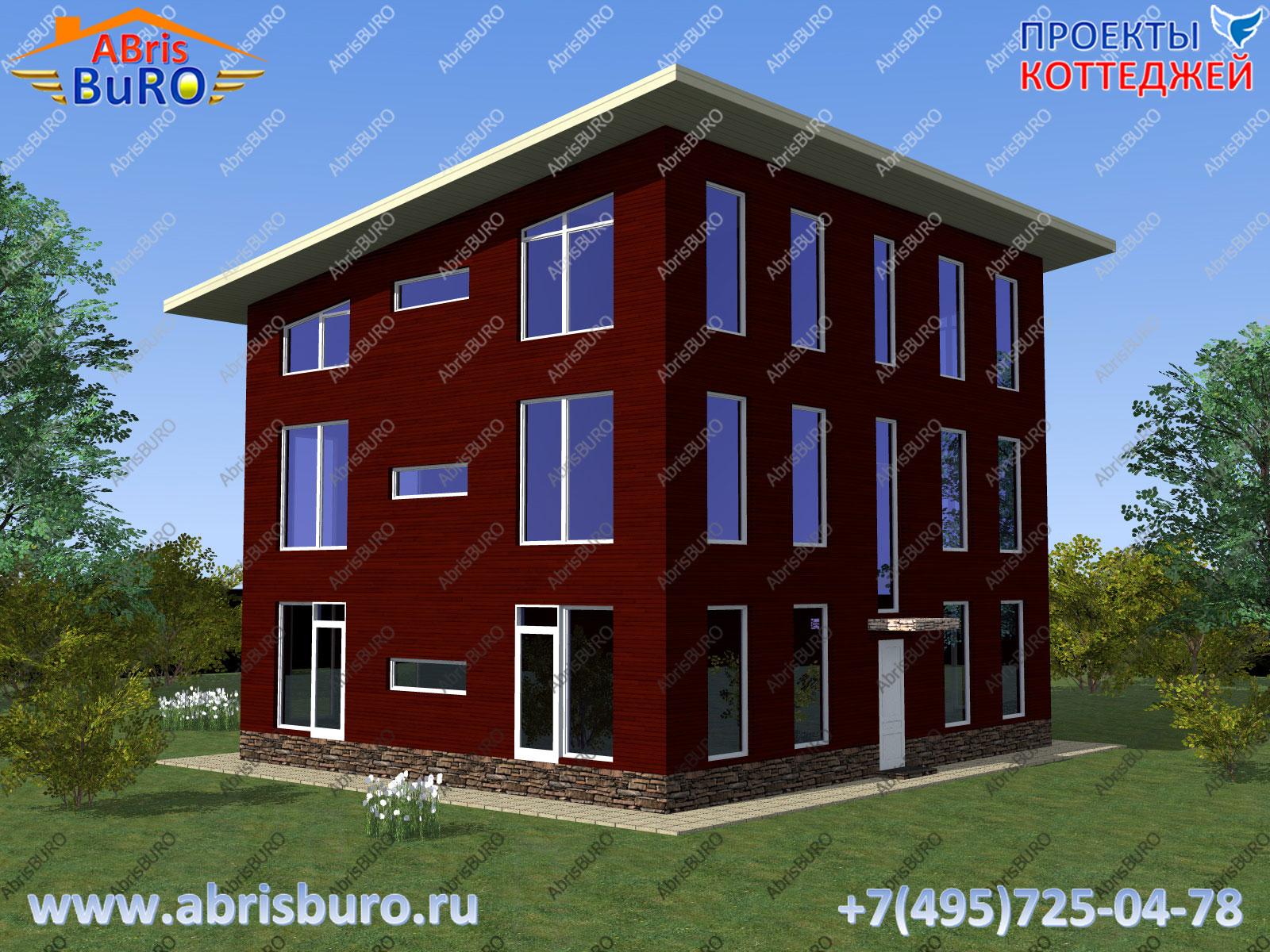 Фасад дома 3d